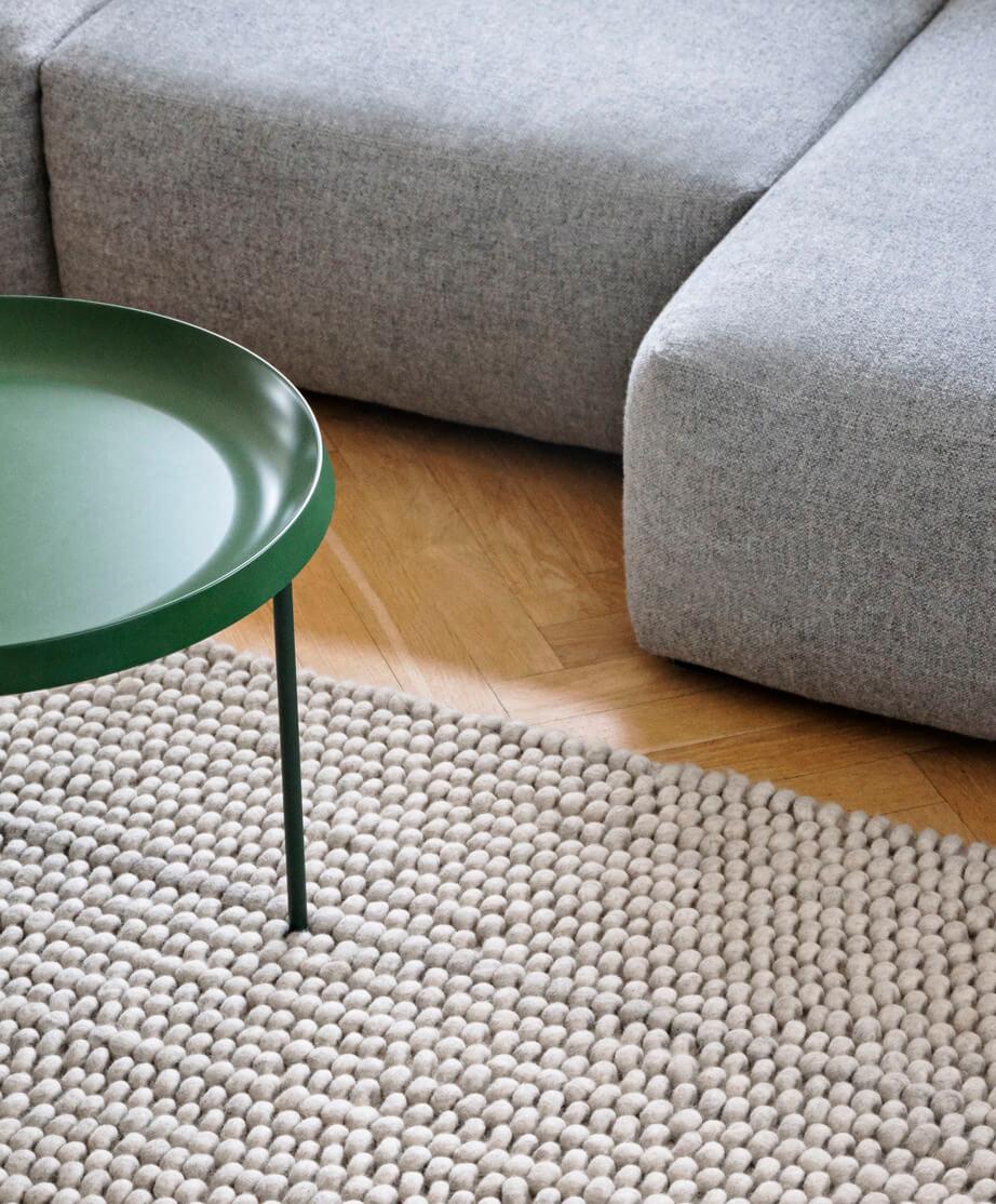 Mags Soft Hallingdal 130_Peas soft grey_Tulou Coffee Table matt green