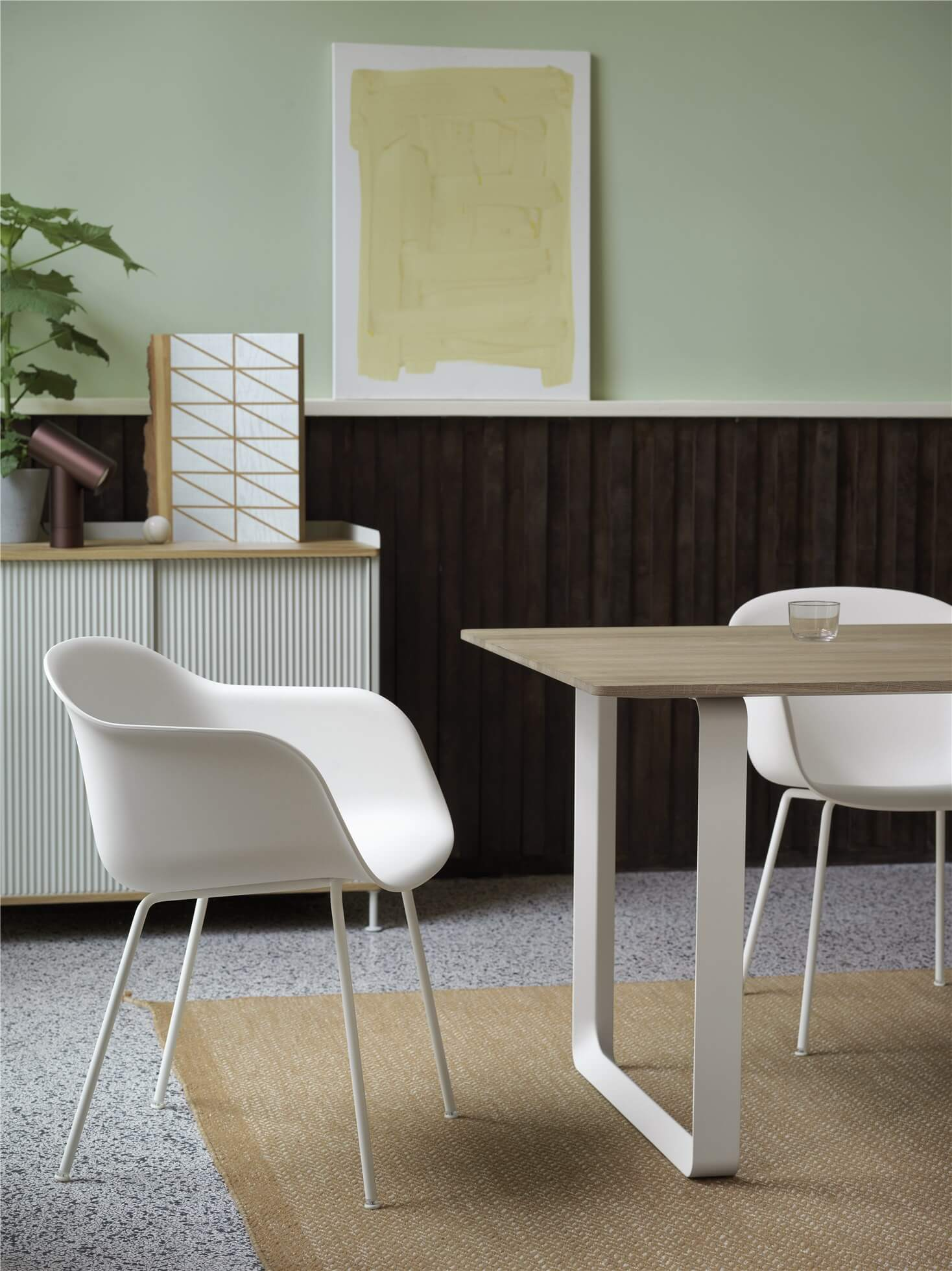 Fiber-armchair-tube-white-70-70-solid-oak-ply-rug-burnt-orange-enfold-grey-beam-muuto-org